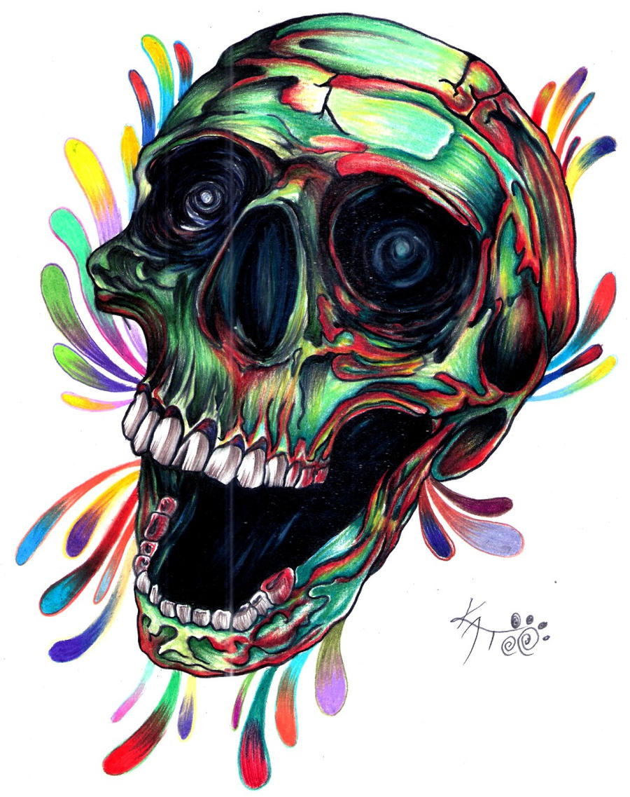 skull color by kato9lives skull color by kato9lives