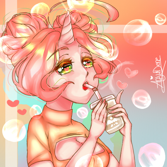 Bubble~Tea by AnjuDere