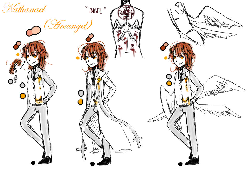 Nathanael  reference sheet by AnjuDere