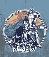 brotherhood of steel needs you by breath-art