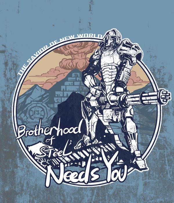 Brotherhood Of Steel Needs You By Breath Art