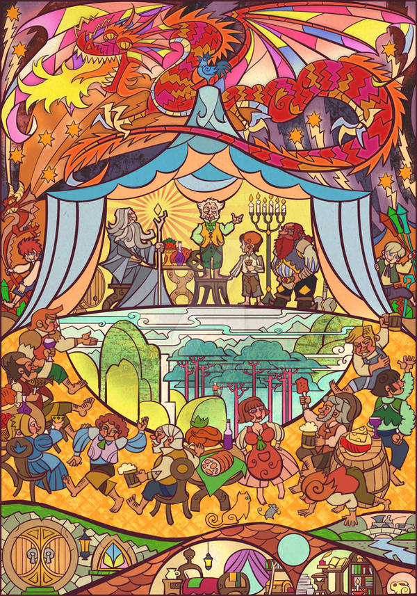 birthday party of Baggins by breath-art