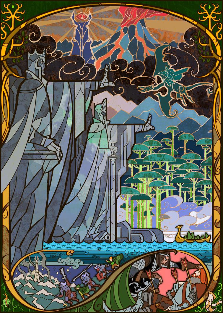 Gates of Argonath by breath-art