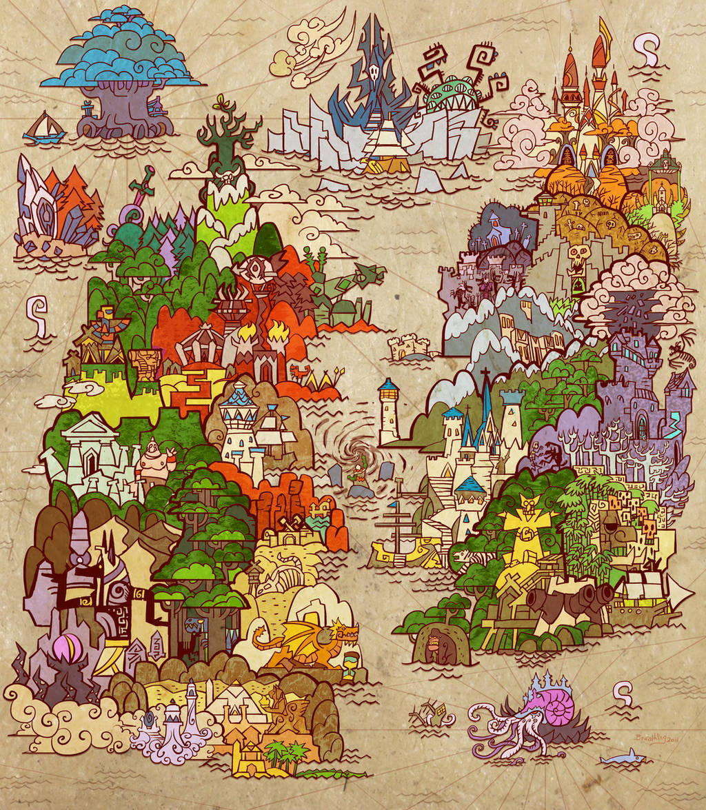 the cataclysm map(new version) by breath-art