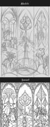 progress of Ent the shepherd of forest by breath-art