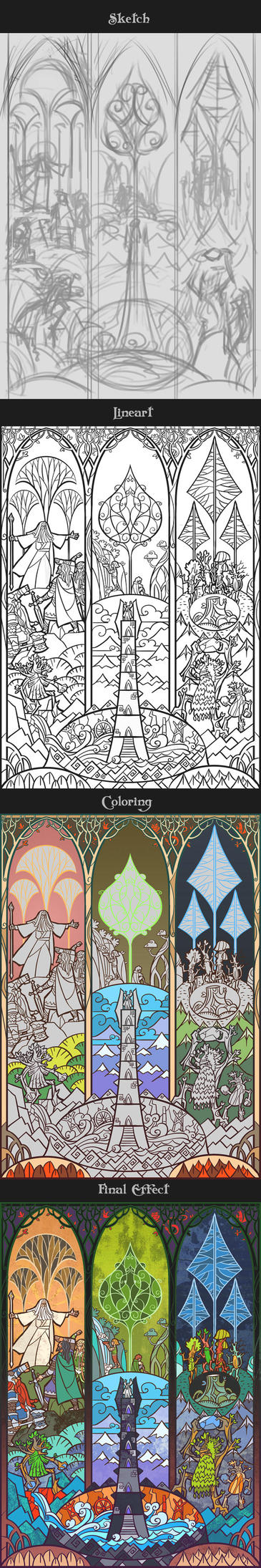 progress of Ent the shepherd of forest by breathing2004