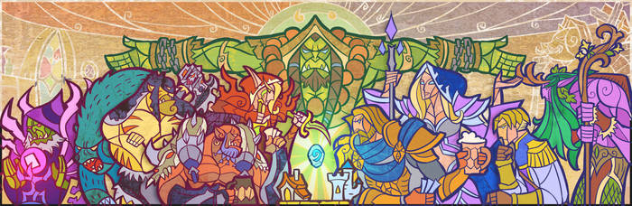 hearthstone title art by breath-art