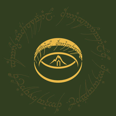 logo of hobbits by breath-art