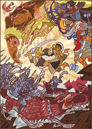 Battle of Five Armies by breath-art