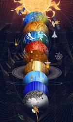 solar system by breath-art