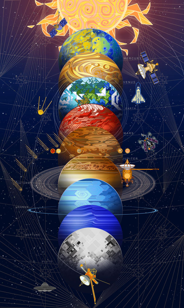 solar system for print by breath-art