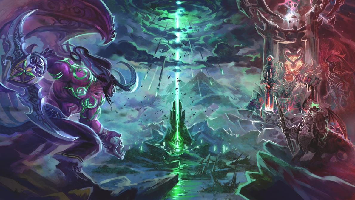 the last battle of Illidan Stormrage by breath-art