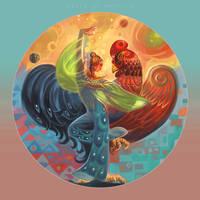 heard the chicken dance by breath-art