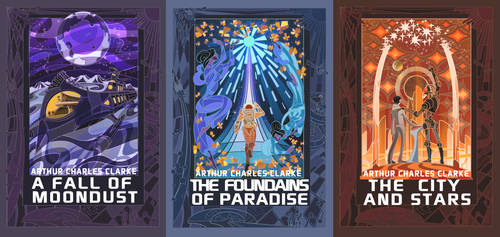 cover for Arthur Clarke novels by breath-art