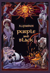 cover for purple and black