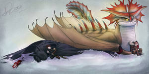 Napping With Mother ~ HTTYD