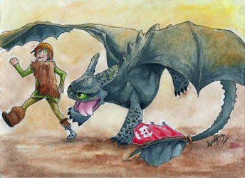 Hiccup and Toothless ~ Come on, Bud!