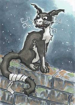 Moonlight Cat - ACEO trade