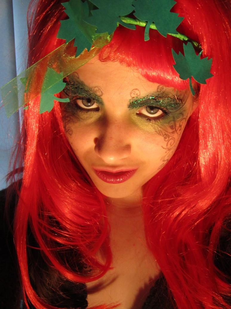 poison ivy halloween makeup by aureliax