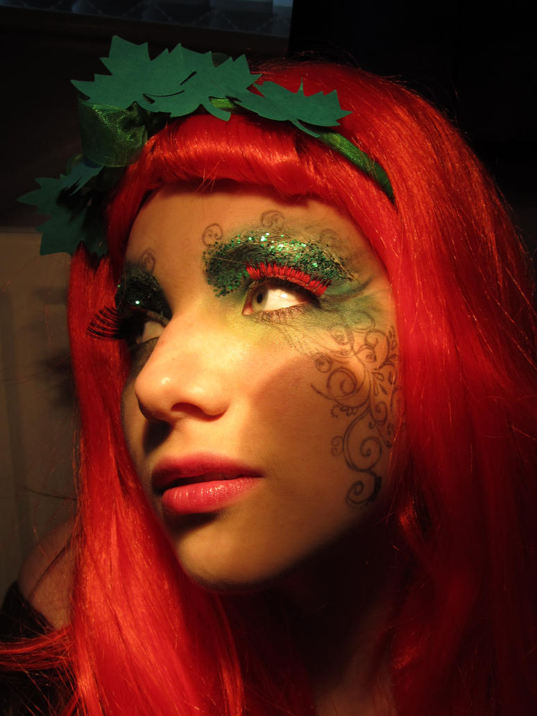 poison ivy halloween makeup by aureliax