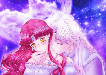 Kiss under the moon by Usalina