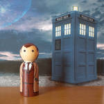The Tenth Doctor peg doll