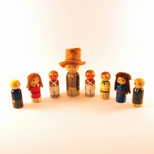 Willy Wonka peg people by jen-random