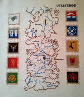 Game of Thrones: Map of Westeros with house sigils by RandomlyGenYVR