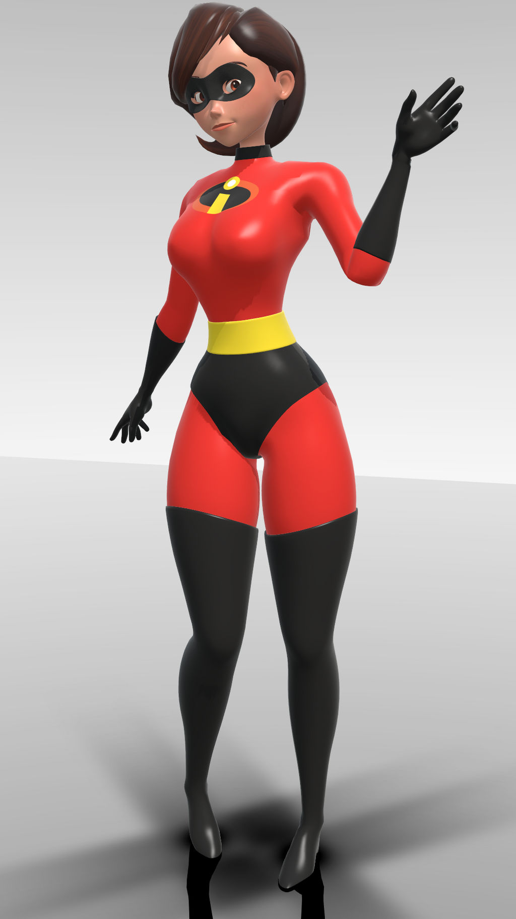Helen parr big boobs deviantart Mmd Incredibles 2 Elastic Girl Model By Caribeandragon On Deviantart