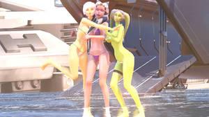 MMD Stars Wars Rebels Ahsoka, Sabine, Hera bikini