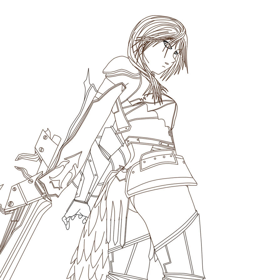 Line Drawing Artist Research : Final fantasy line art by haconiel on deviantart