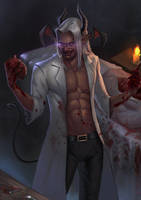 Verin Furrel the mad surgeon by AnakKecilBrengosan