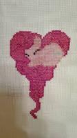Pinkie Pie Heart Needlepoint