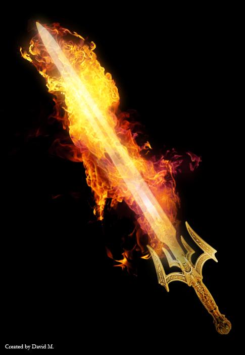 Flaming Sword by dlm1980 on DeviantArt