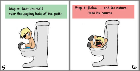 Potty Training pgs 5-6 by LibraryNinja