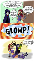 Tackle Glomp -Baby Titans by LibraryNinja