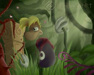 Rayman Dark Jungle by ArnarionArt