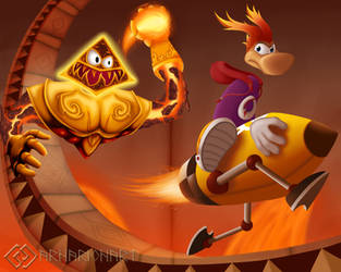 Rayman and Foutch by ArnarionArt
