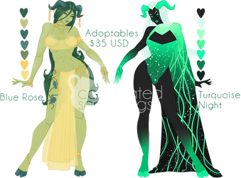 [ Adoptables ] Daughters of Pan by caffeine-scribbles