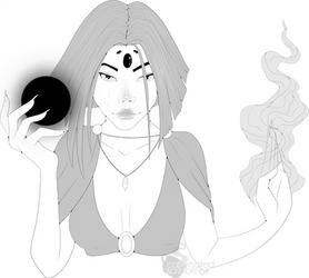 RLC: Shadow Mage by caffeine-scribbles