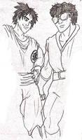 Goku and Ken