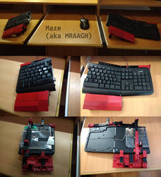 DIY split tilted keyboard!