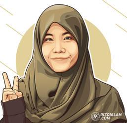 Hijab Vector Peace by alamsadar