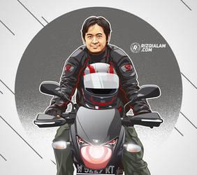 Rider Motorcycle Vector by alamsadar