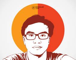 Vector Line Art Portrait
