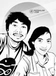 Vector Line Art Couple by alamsadar