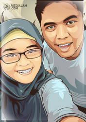 Vector Couple by alamsadar