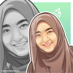 Hijaber in Vector