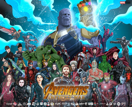 Infinity War Collaboration Art by alamsadar