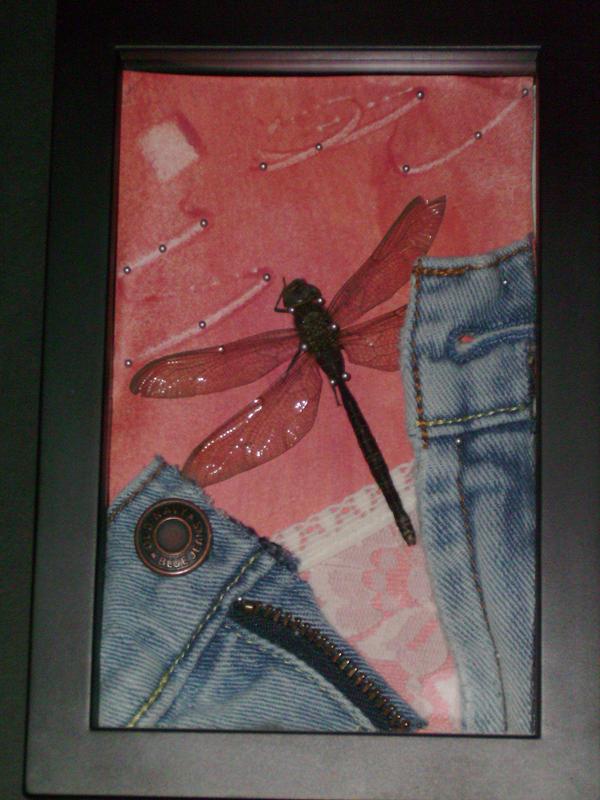 her tattoo... - dragonfly tattoo